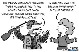 In the context of Newtown, gun control not a first or second amendment right.