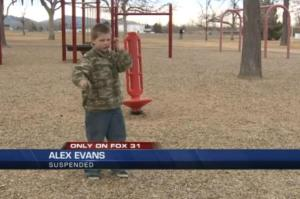 Boy, 7, suspended for throwing imaginary grenade