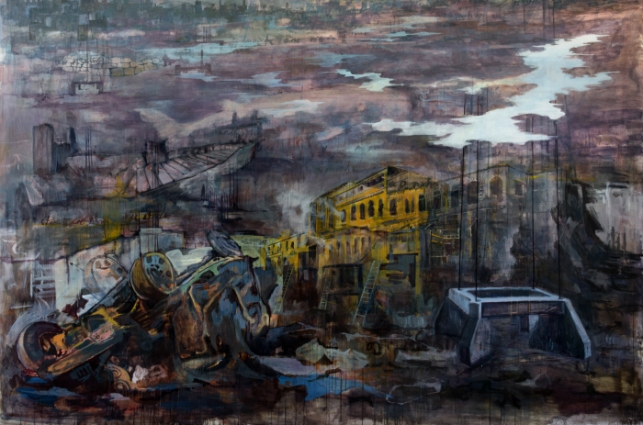 Khan's The Streets are Rising is one of many works of art dealing with violence in Pakistan [Naiza Khan]