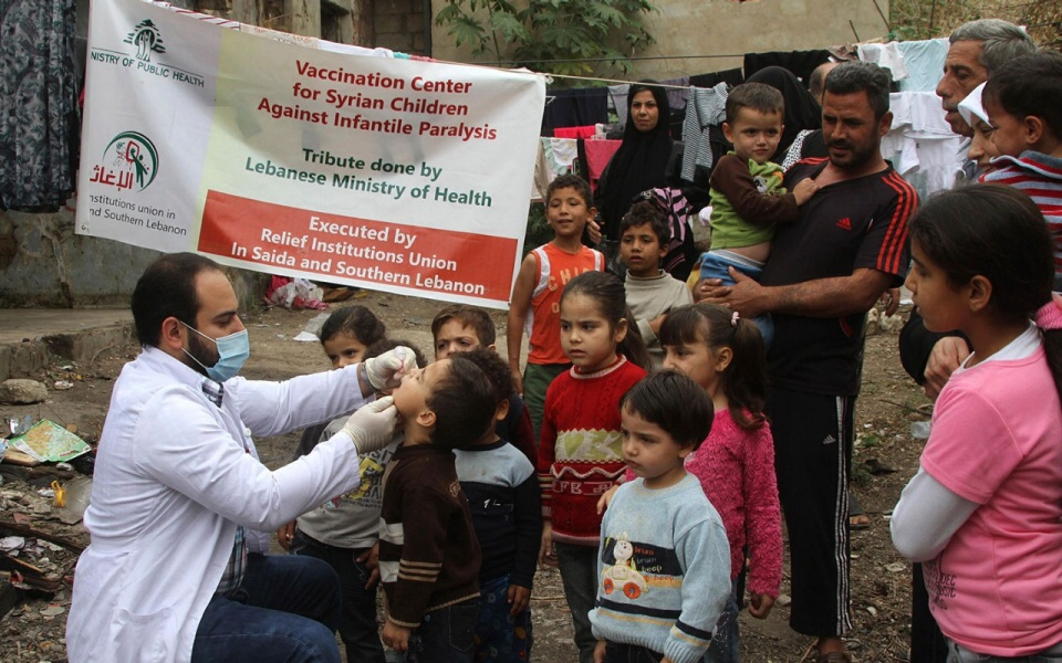 Middle East to vaccinate 20 million children against polio