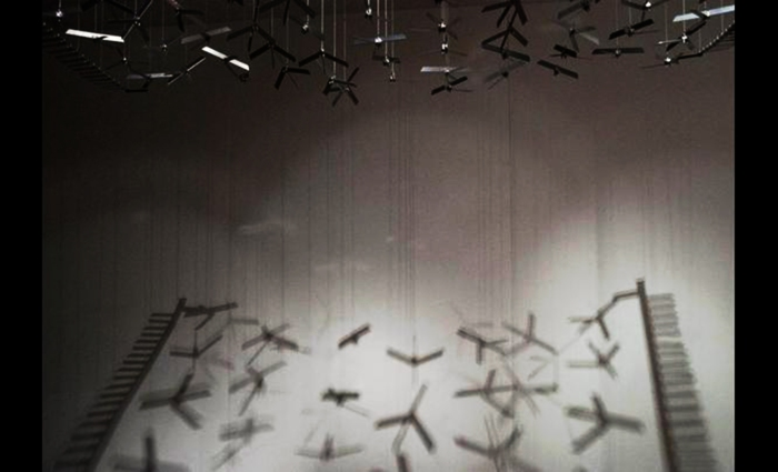 Rug of Drones 2011, installation from The Rising Tide at Mohatta Palace Museum