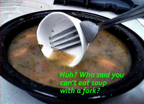 fork soup