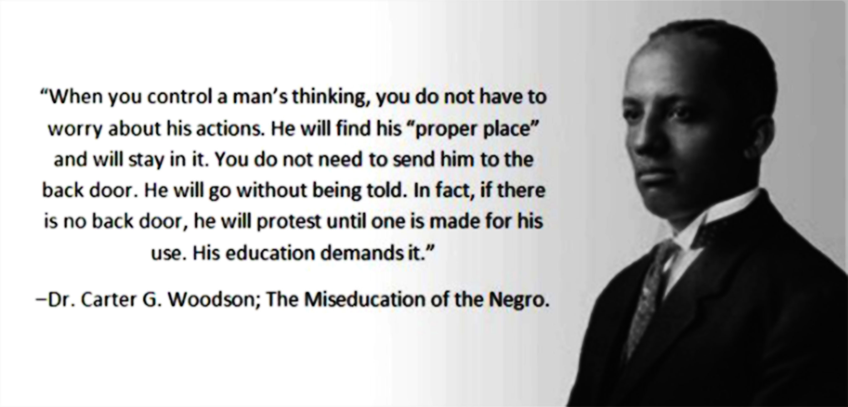 Black History Month Quotes Carter G Woodson  Failure To Listen