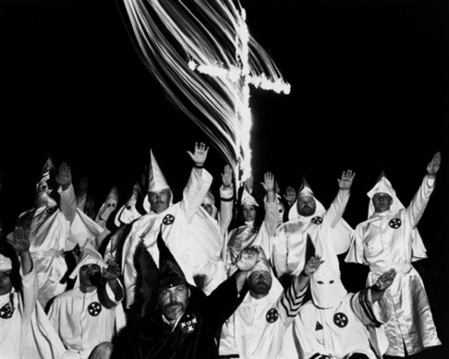 Whites hid their faces in white bed sheets,  murder, then go to church like good Christians....