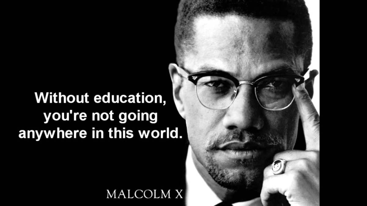 Quotes a  Poem and Malcolm X