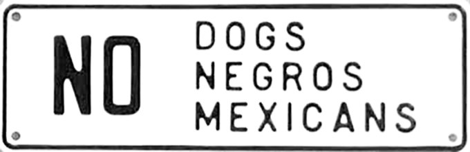 Dogs, negros and mexicans all the same....