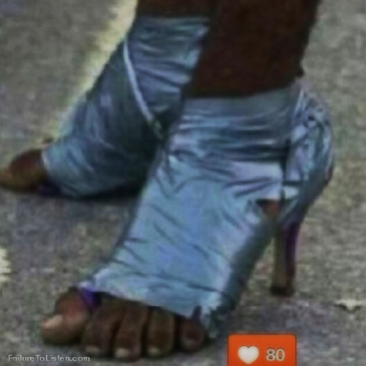 I want a pair...duck tape is handy.