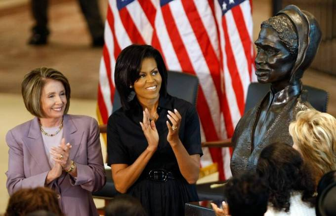sojourner_truth_michelle_obama_pelosi_SoJourner truth bust unveiled