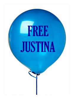#FreeJustina