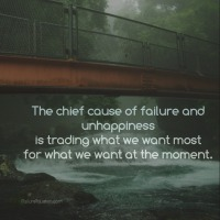 The chief cause of failure and unhappiness is trad…