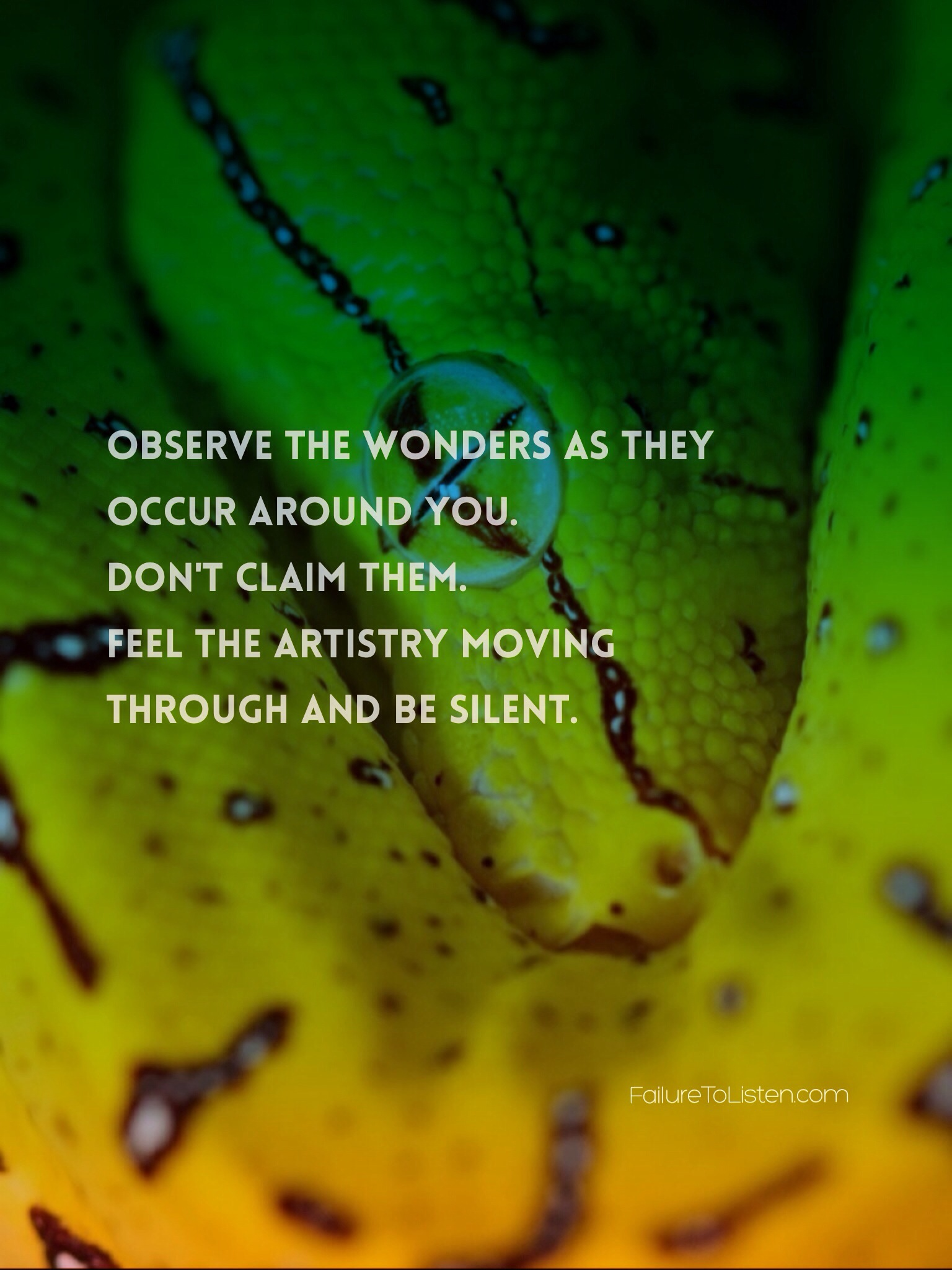 Rumi #quote Observe The Wonders As They Occur Around You. Donu0027t Claim Them.  Feel The Artistry Moving Through And Be Silent.