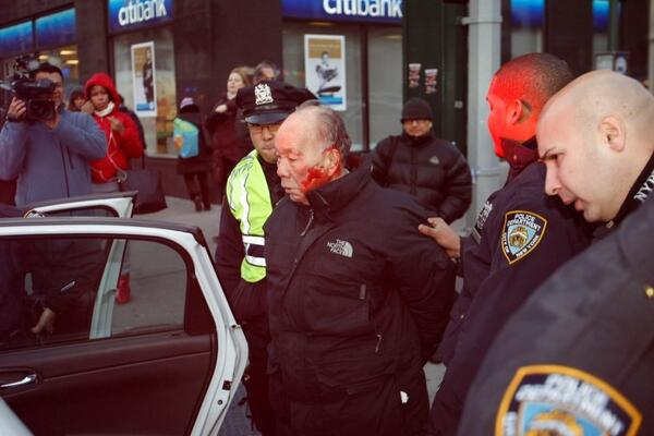 How about featuring this one of the #NYPD with the 84yo man they brutalized for jay walking? #myNYPD @NYPDnews pic.twitter.com/31rjdfvQRg