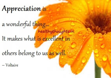 Appreciation is a wonderful thing… It makes what is excellent in others belong to us as well. – Voltaire