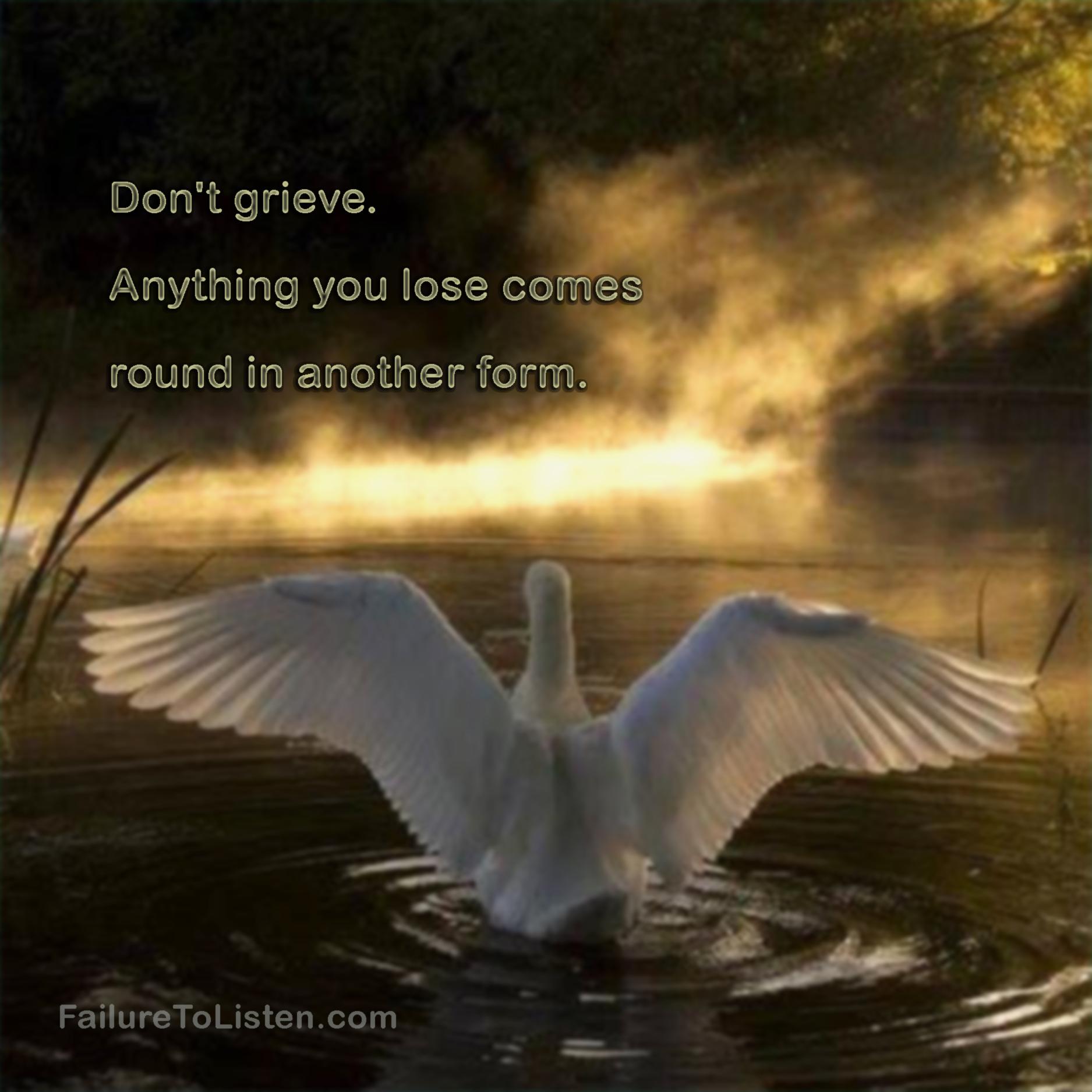 Rumi don t grieve