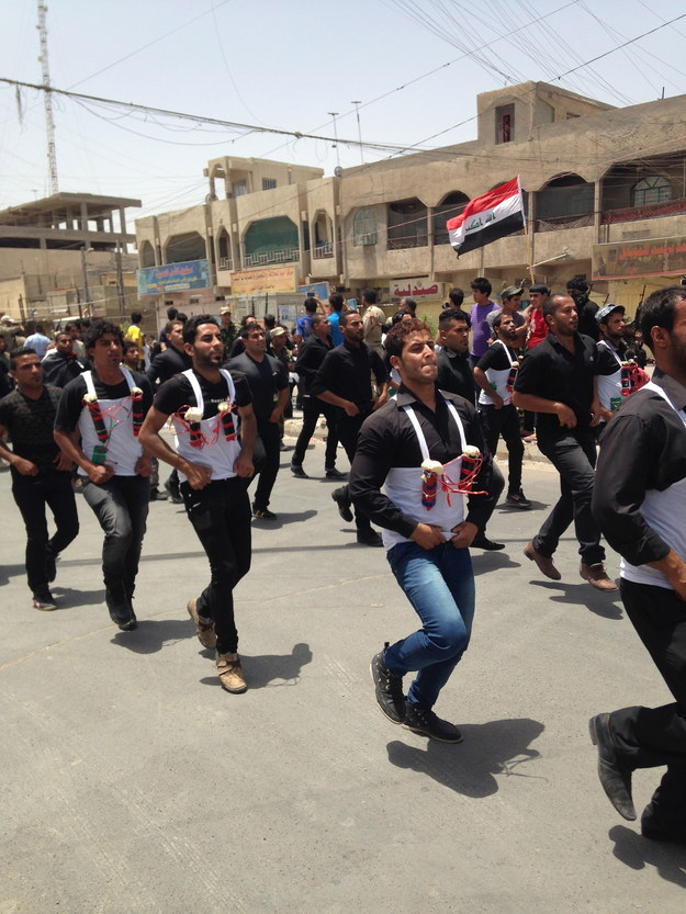 Suicide bombers march