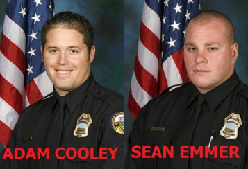 Adam Cooley and Sean Emmer  were the two officers in the video