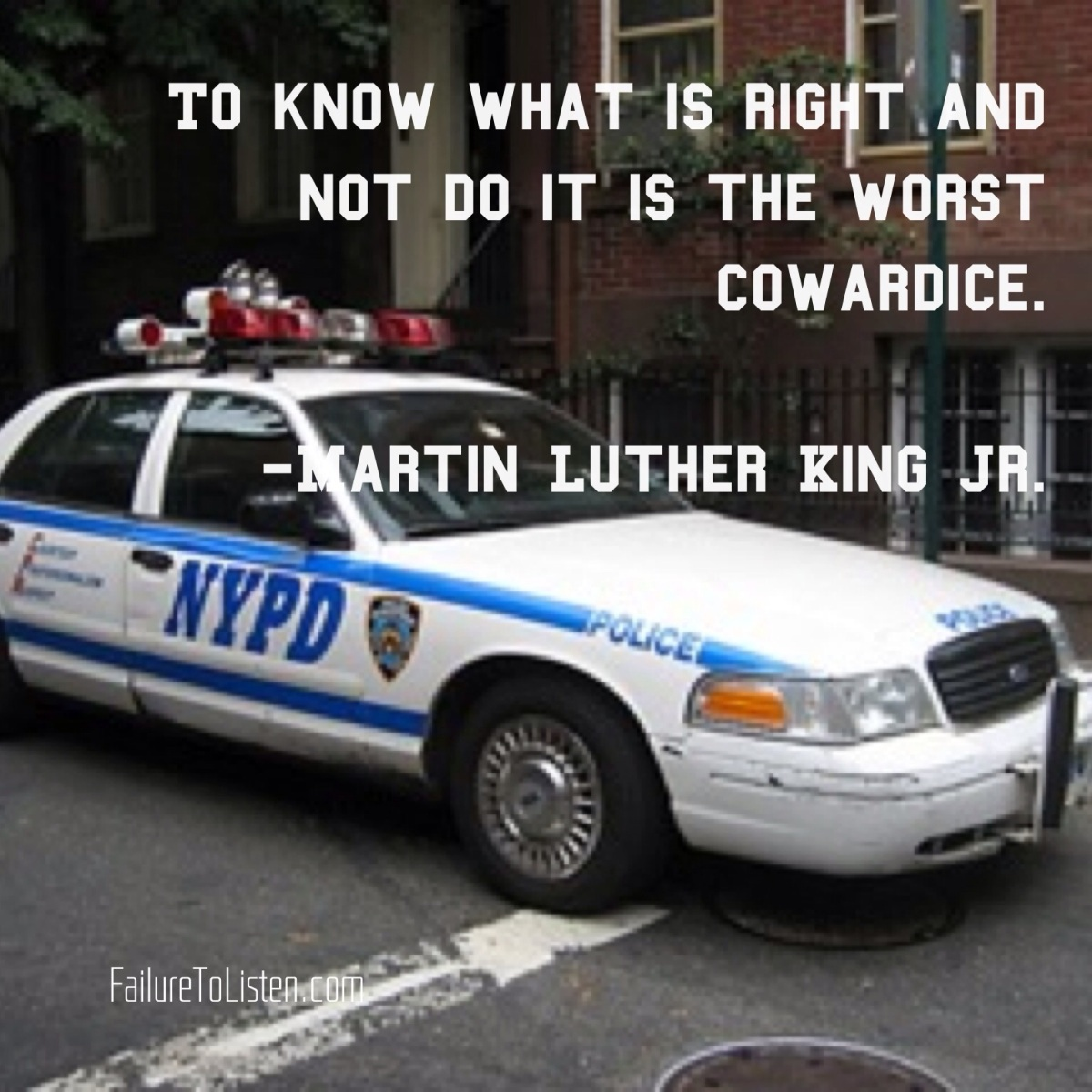 From Martin Luther King Jr. To The NYPD : JUSTICE