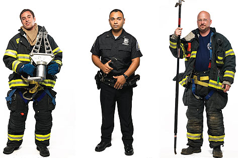 First Responders: Medic, Police Officer and Fire Fighter