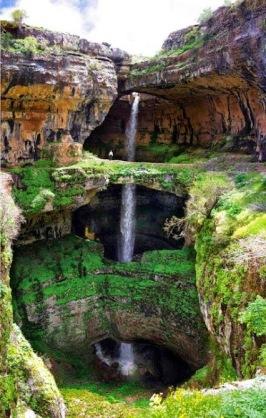 lebanon-baatara-gorge-waterfall Lebanon