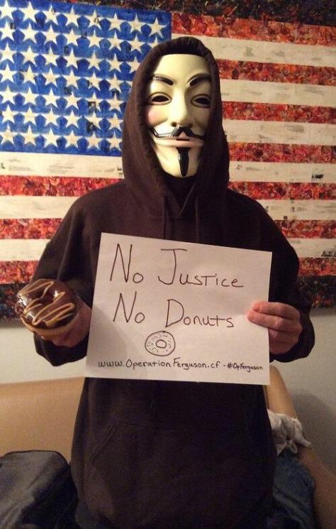 No Justice No Peace and Definitely NO DONUTS!