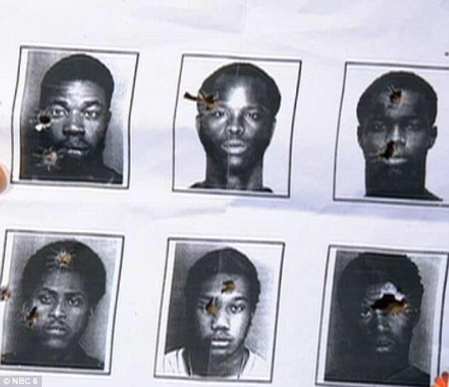 Black suspects, many victims of police violence, used by police officers for target practice.