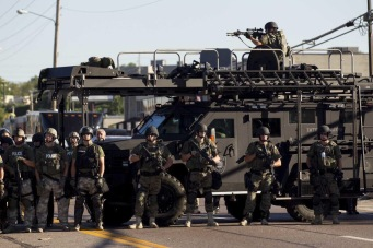 Military police in Ferguson