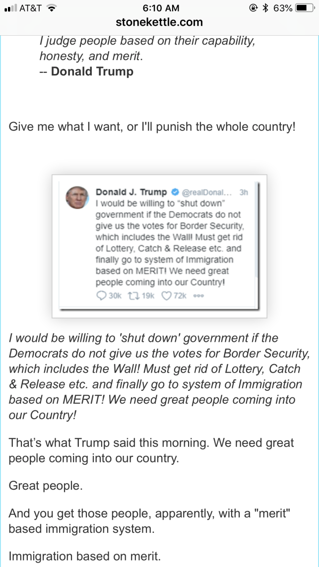 Trump's tweet on Border Security