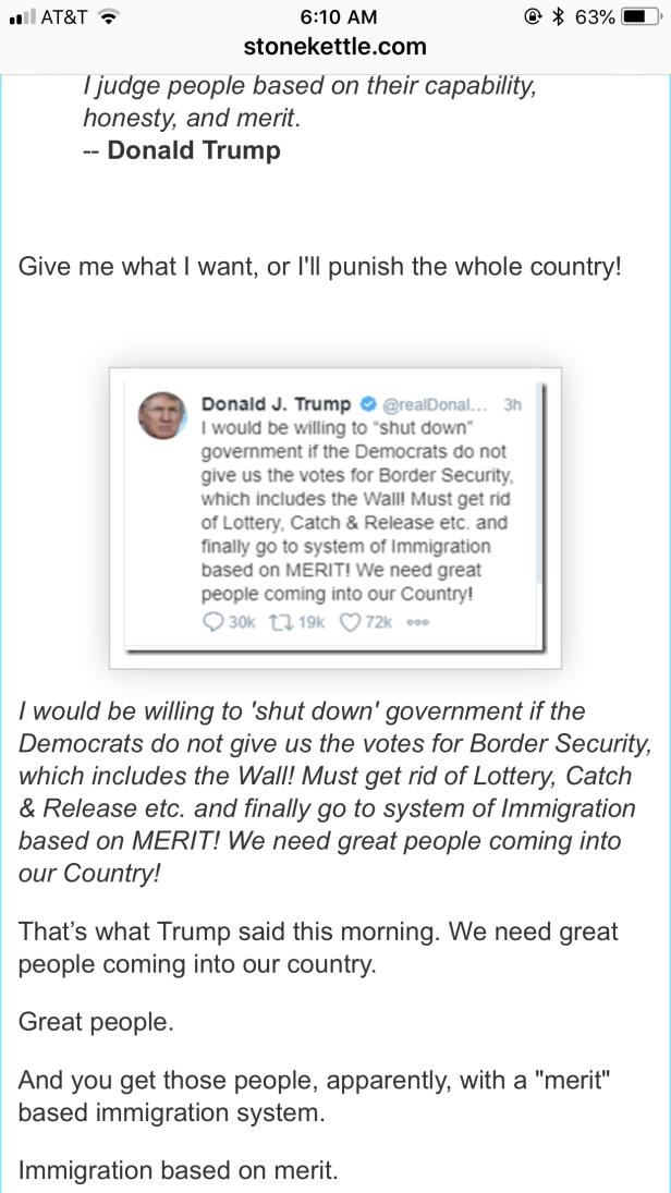 Trump's tweet on Border Security