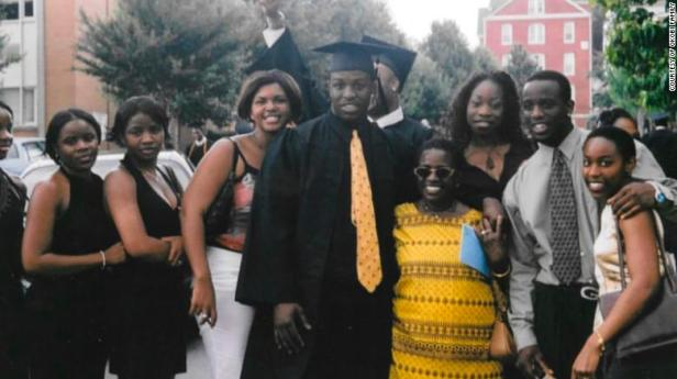 Chinedu Okobi with his family at his 2003 graduation from Morehouse College in Atlanta.