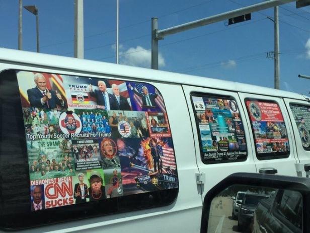 Van belonging to Cesar Sayoc Source of image: Twitter