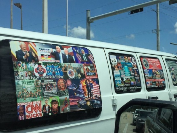 Van belonging to Cesar Sayoc Source of image: Twitter